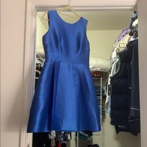 Blue Kate Spade cocktail dress with back bow